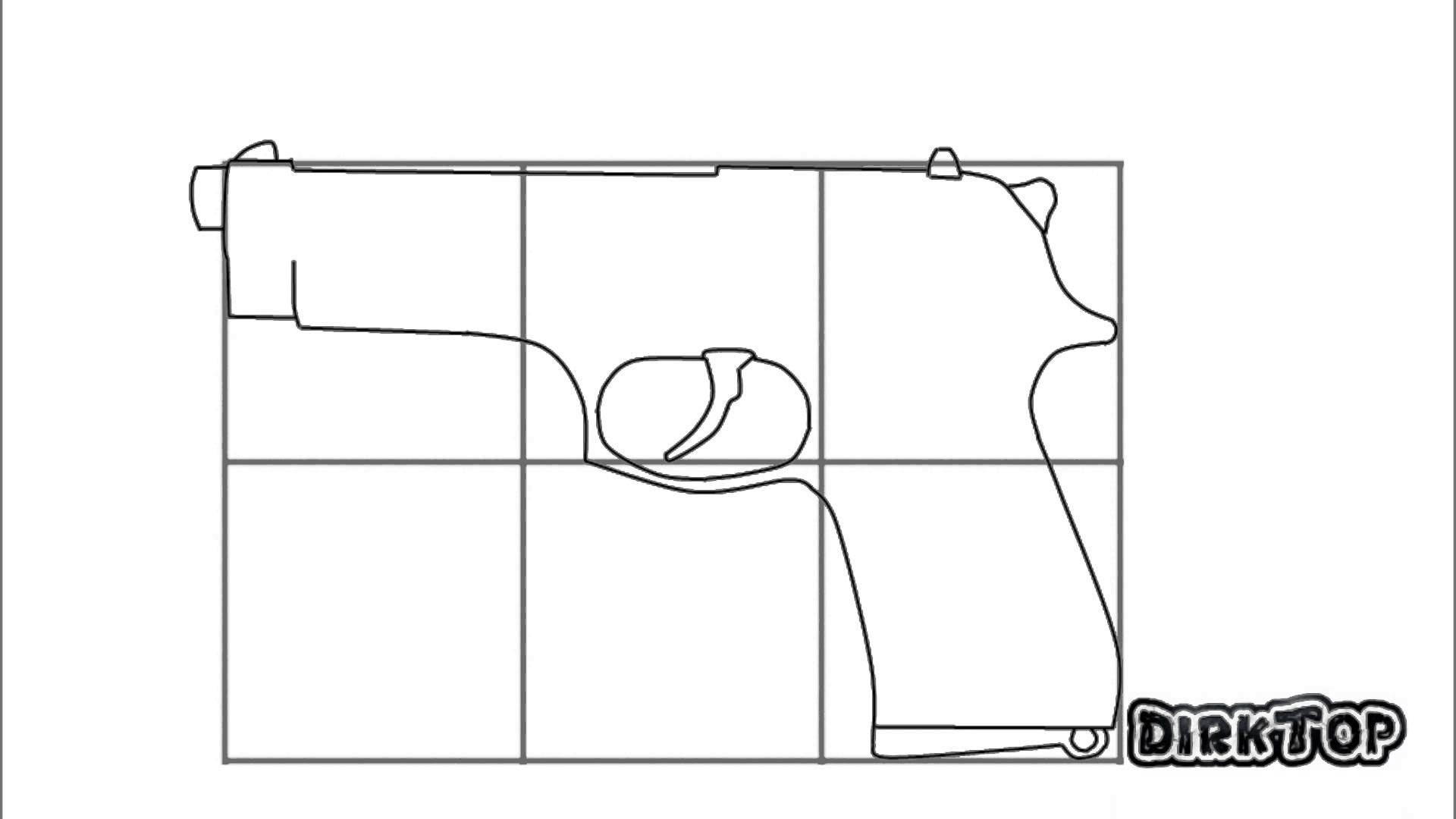 Drawn pistol step by step Step How To Step A