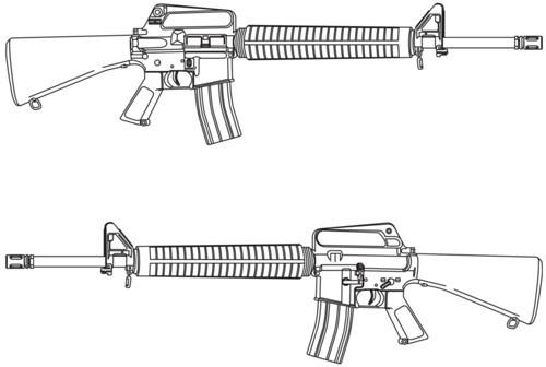 Drawn pistol submachine gun Gun Ww1 hartsguns Masteri Drawing