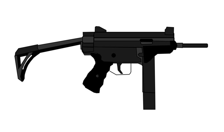 Drawn pistol submachine gun YouTube Draw (gun Machine) a