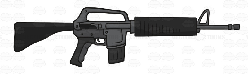 Drawn pistol submachine gun Cartoon Clipart Machine  Gun
