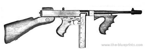 Drawn pistol submachine gun M1911 Gaming Emulation Colt Gun