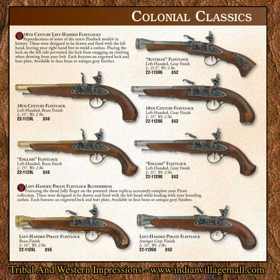 Drawn pistol tribal From And indianvillagemall Impressions Musket