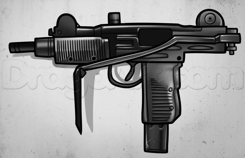 Drawn pistol uzi FREE uzi Step Online guns
