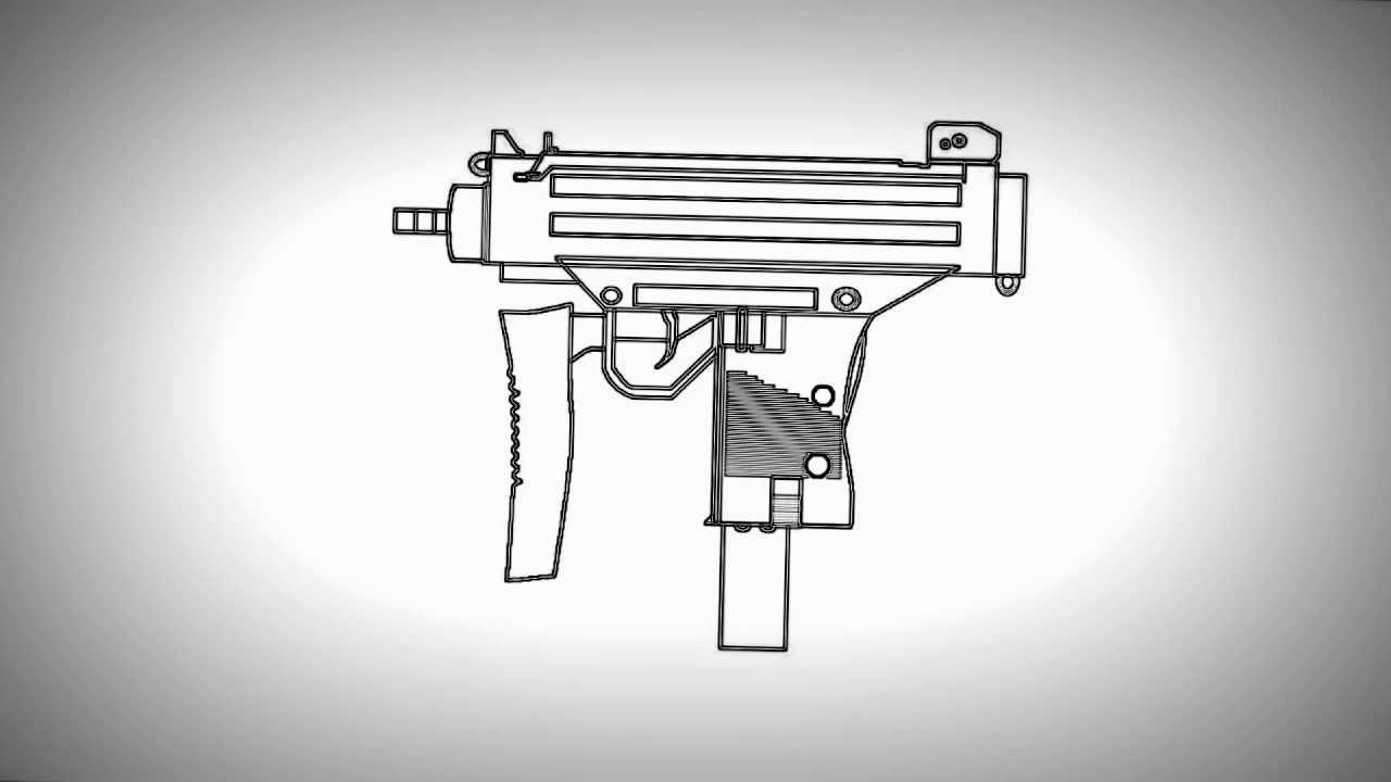 Drawn pistol uzi To Uzi from OfficialAmazing? Draw