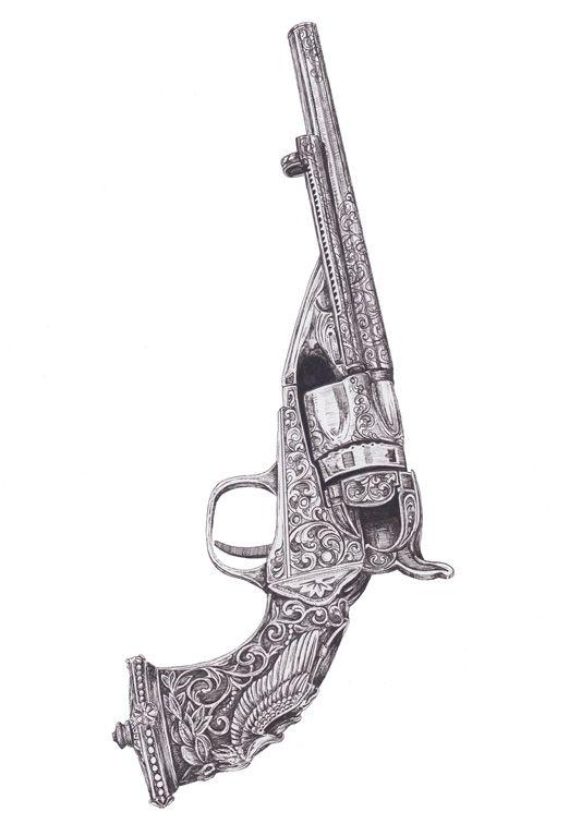Drawn pistol vintage Tattoos tattoos Chicano tattoos Pistol