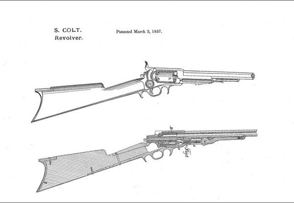 Drawn shotgun war gun The com Colt drawings for