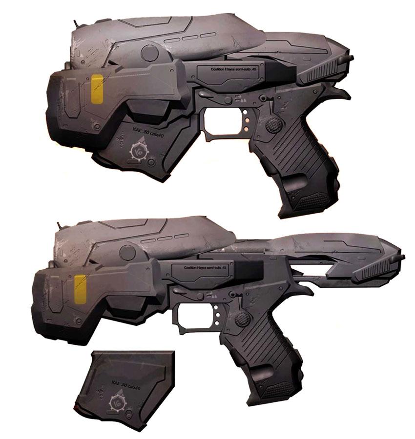 Drawn pistol war gun Pistol 2 Gears Snub 2