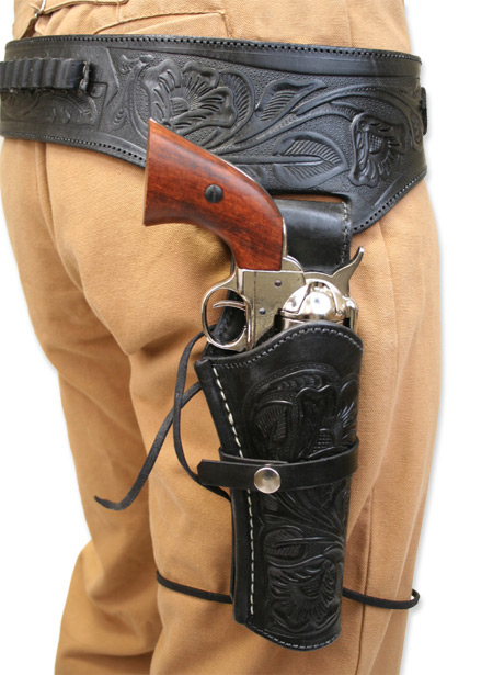 Drawn pistol western gun Guns and West Old Holsters