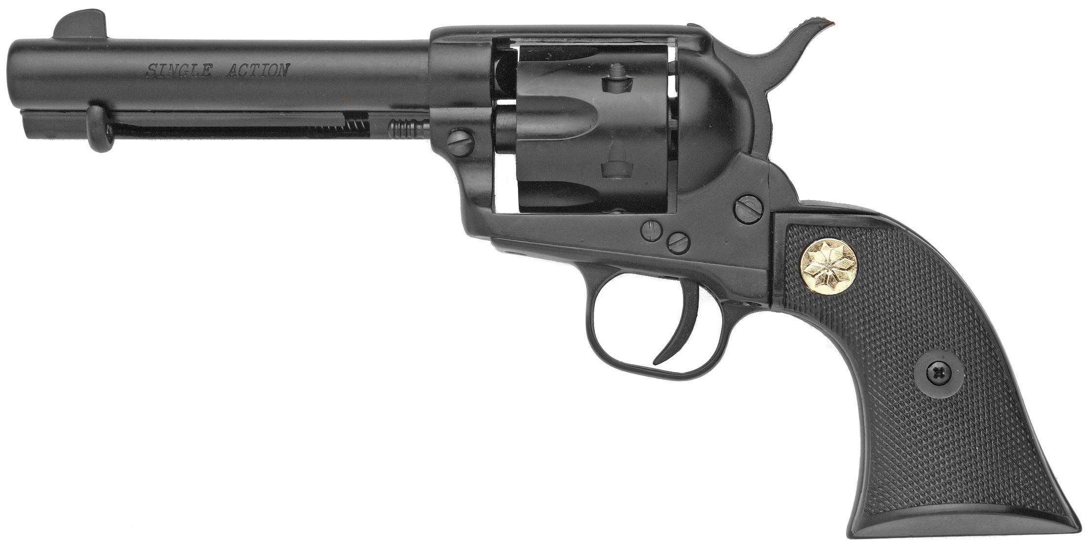 Drawn pistol western gun  Guns: 9mm West Blank