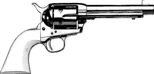 Drawn pistol western gun Clip & Western Gun Images