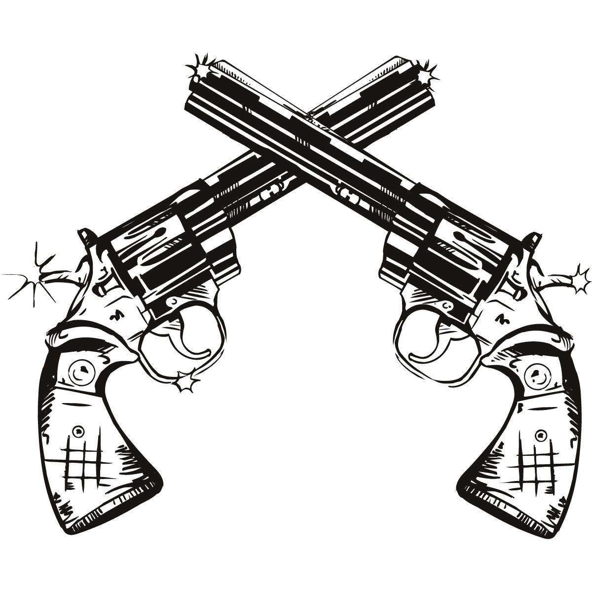 Drawn pistol western gun Gun Images Decal Art Clipartner