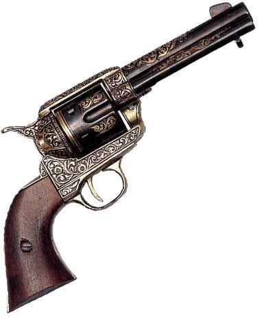 Drawn pistol western gun Golden Firing Pistols Firing