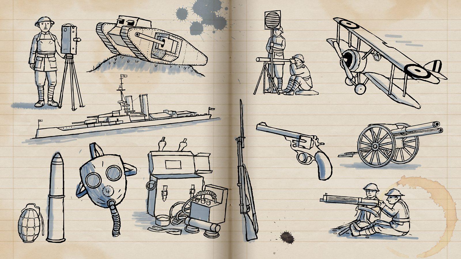 Drawn pistol ww1 gun Weapons WW1? were and used