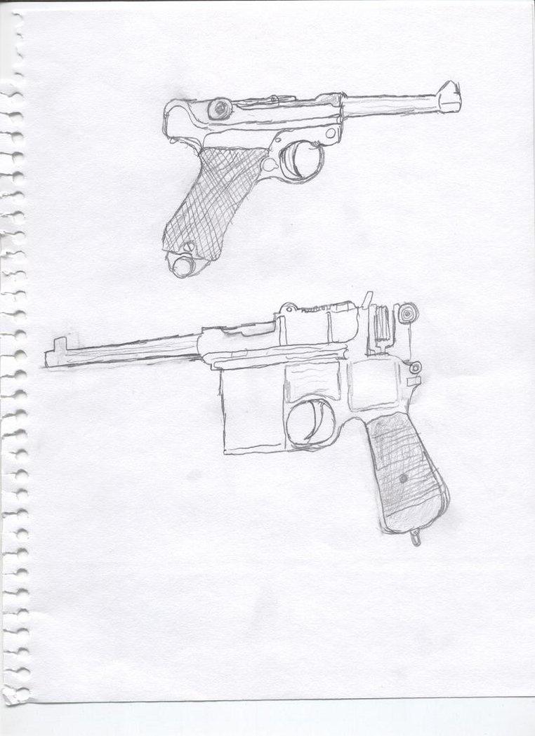 Drawn pistol ww1 gun German sidearms WWI WWI GangsterLovin