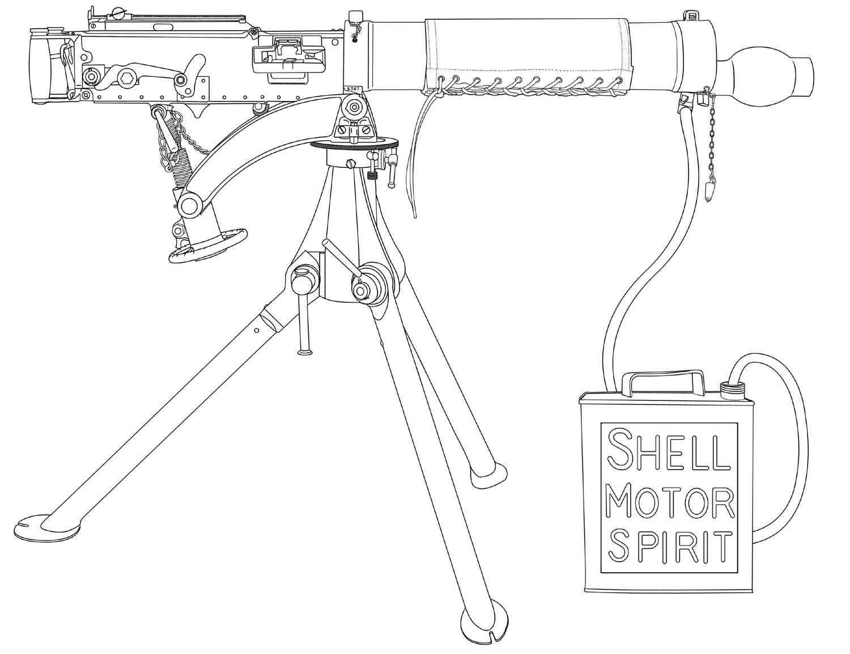 Drawn pistol ww1 gun Guns Masteri Ww1 Machine Gun