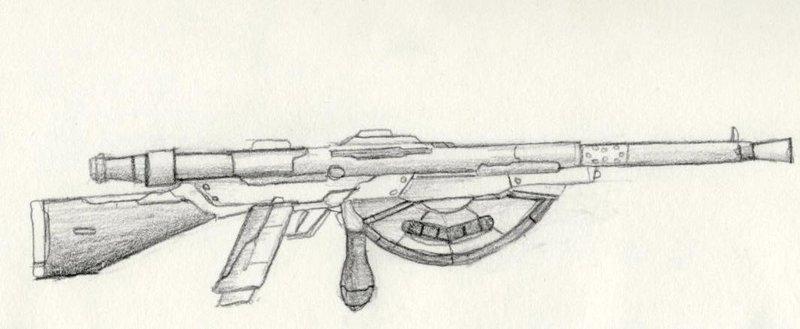 Drawn snipers ww1 gun Drawing Chauchat Machin Masteri Ww1