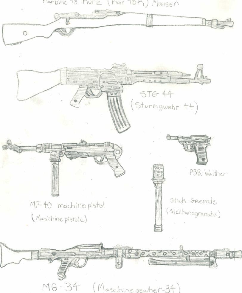 Drawn pistol ww2 gun WW2 CrashyBandicoot weapons weapons by