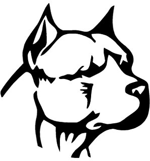 Drawn pit bull american bully Bully Head Sticker bull White