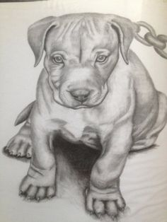 Drawn pitbull spoiled Puppy (Dec Mitten 2012 Tattoo