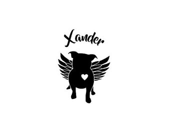 Pit Bull clipart wing Bull Bull with Pit Decal