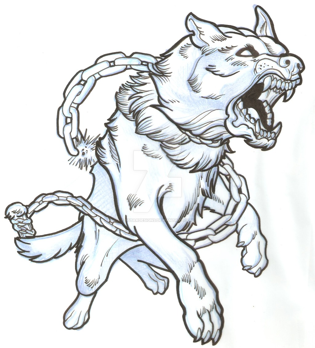 Drawn bulldog mad dog DeviantArt Dog by Angry Dog