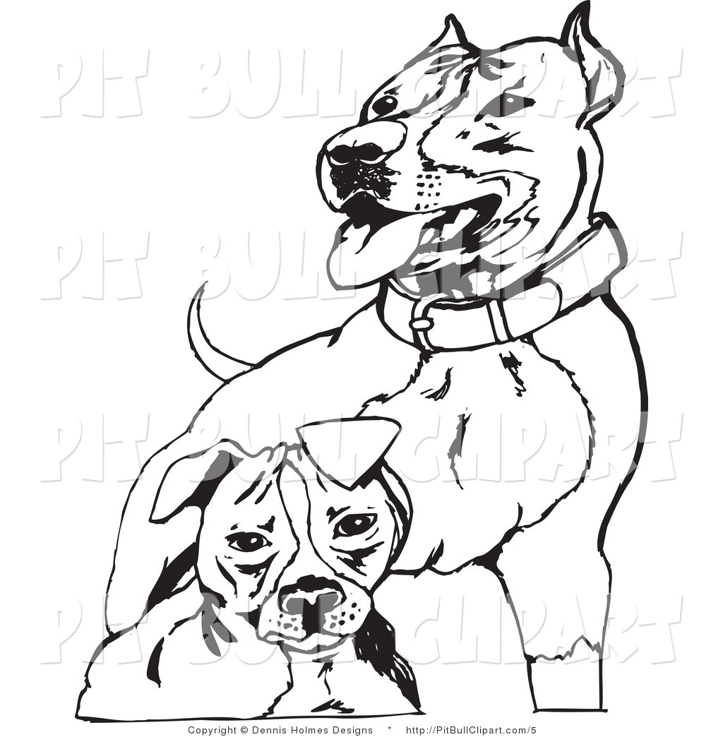 Pit Bull clipart black and white Pit Black Two and Pit