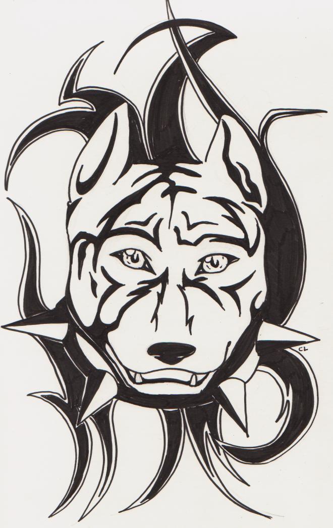 Drawn pitbull wolf 2 Explore DarkChibiWolf Pitbull 4