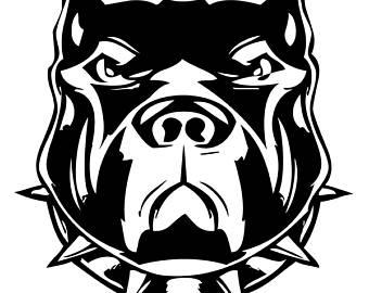 Pitbull clipart mean Clip Etsy Bull American Dog