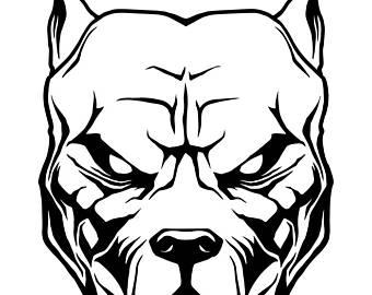 Pitbull clipart mean Bull art Bull American Dog