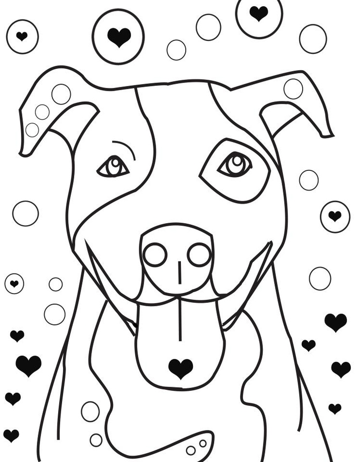 Pitbull clipart coloring page Pages Coloring Pinterest Coloring Pages