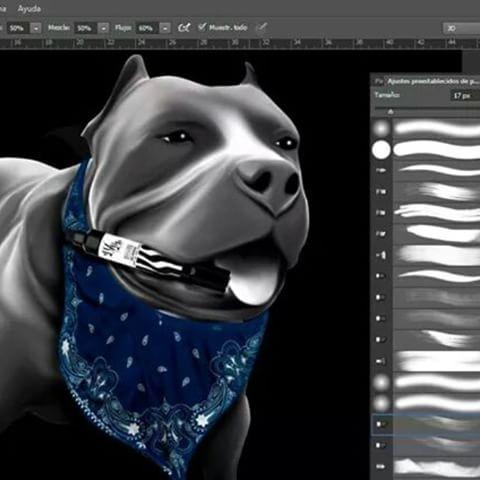 Drawn pitbull gangster (@enemigoinfame) #bandana Messina #dogs #paint