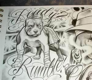 Drawn pitbull gangster Pitbull Tattoo 25+ Gangster Mister