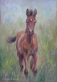 Drawn scenic go green In portrait request HORSE Original