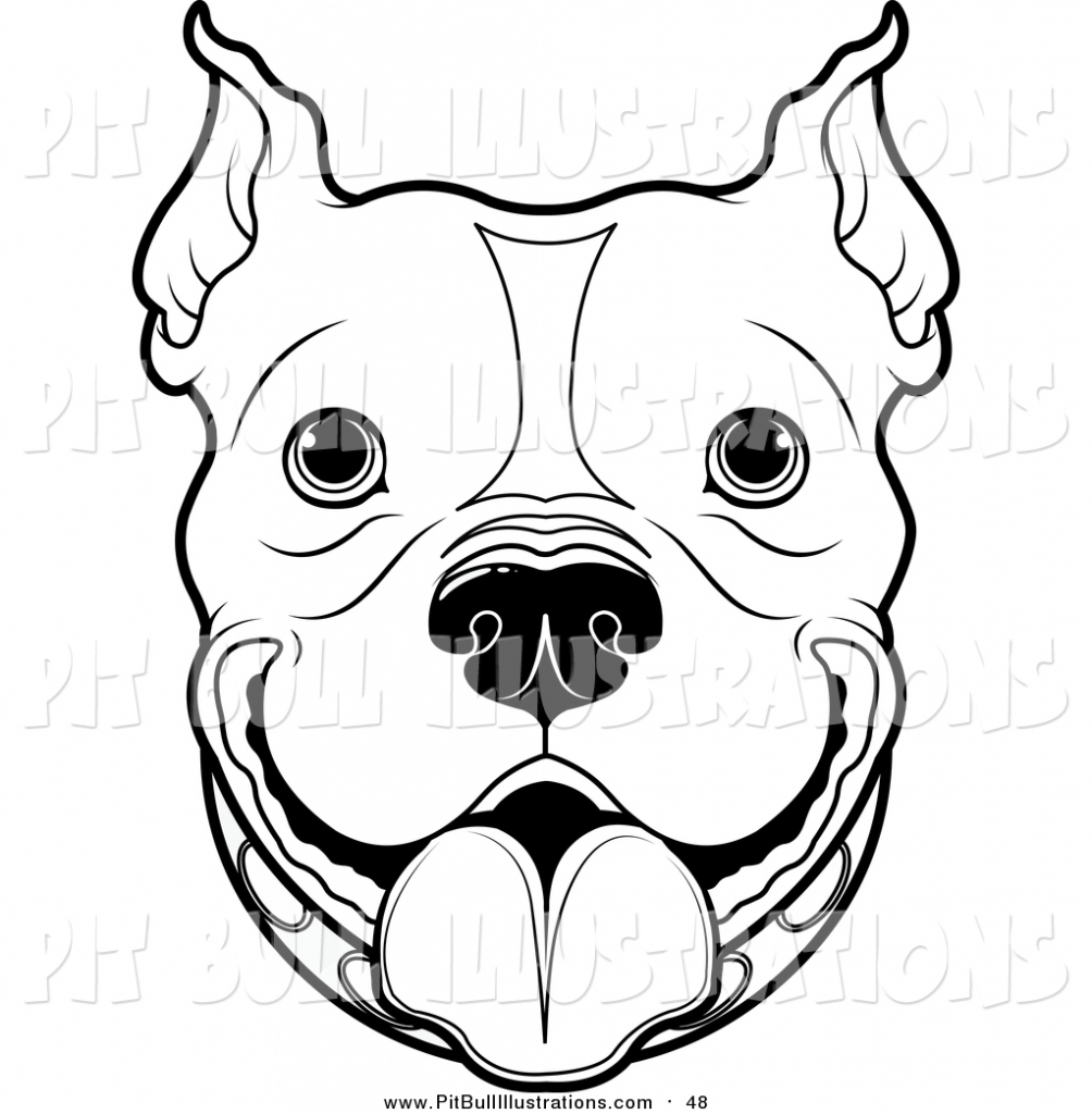 Pitbull clipart sketch Library Pitbull Royalty Bull Face