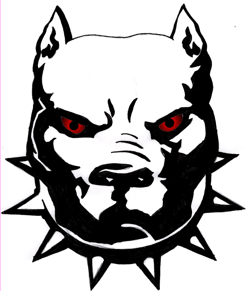Pitbull clipart tribal Pit_with_Eyes_by_MeccaMedia  People jpg Sticker