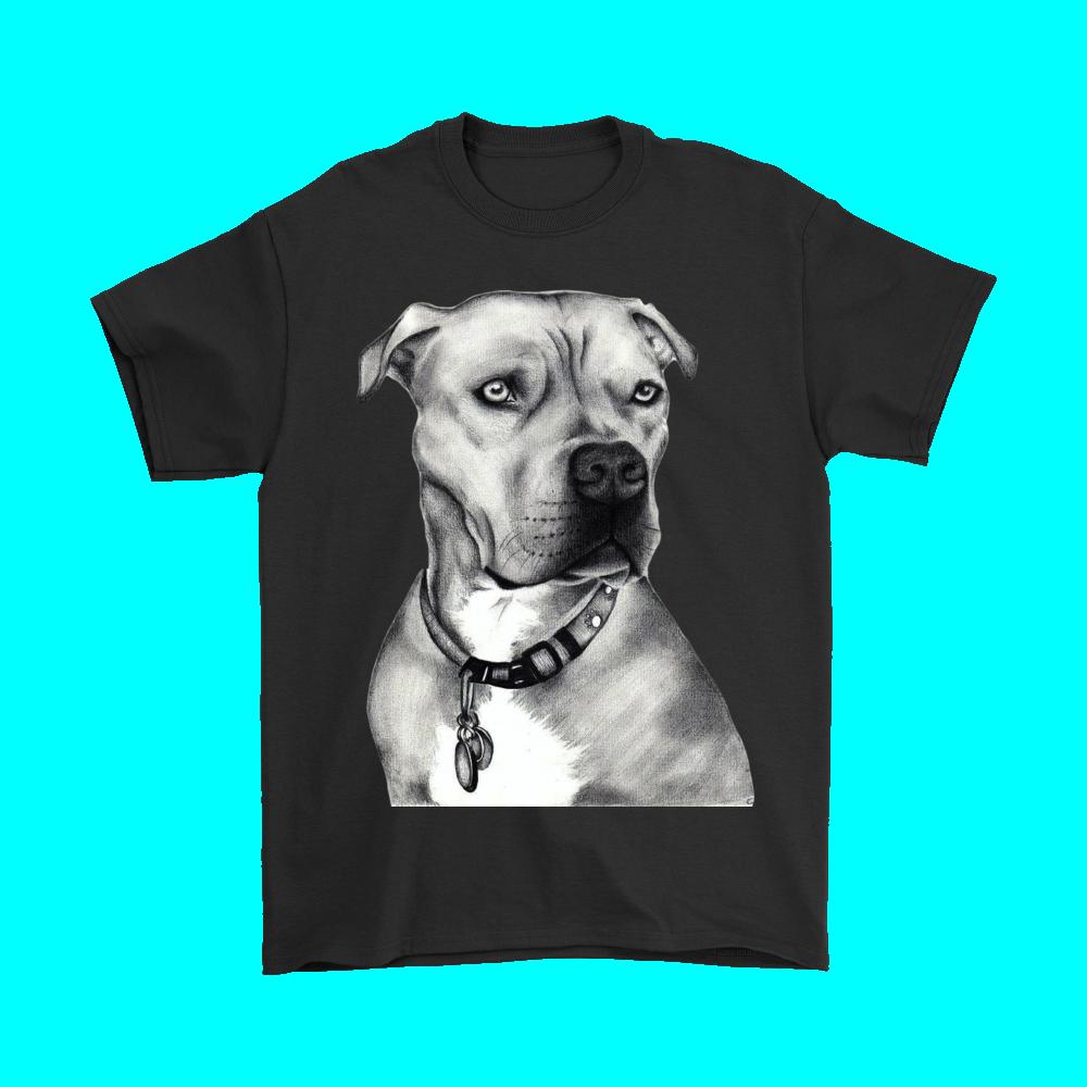 Drawn pit bull pitbul T Drawn Shirt Shirt Uncle