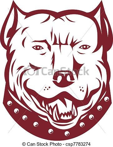 Pitbull clipart draw a Dog mongrel pit Stock front