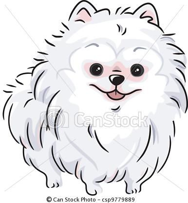 White clipart pomeranian Pomeranian stock royalty stock Pinterest