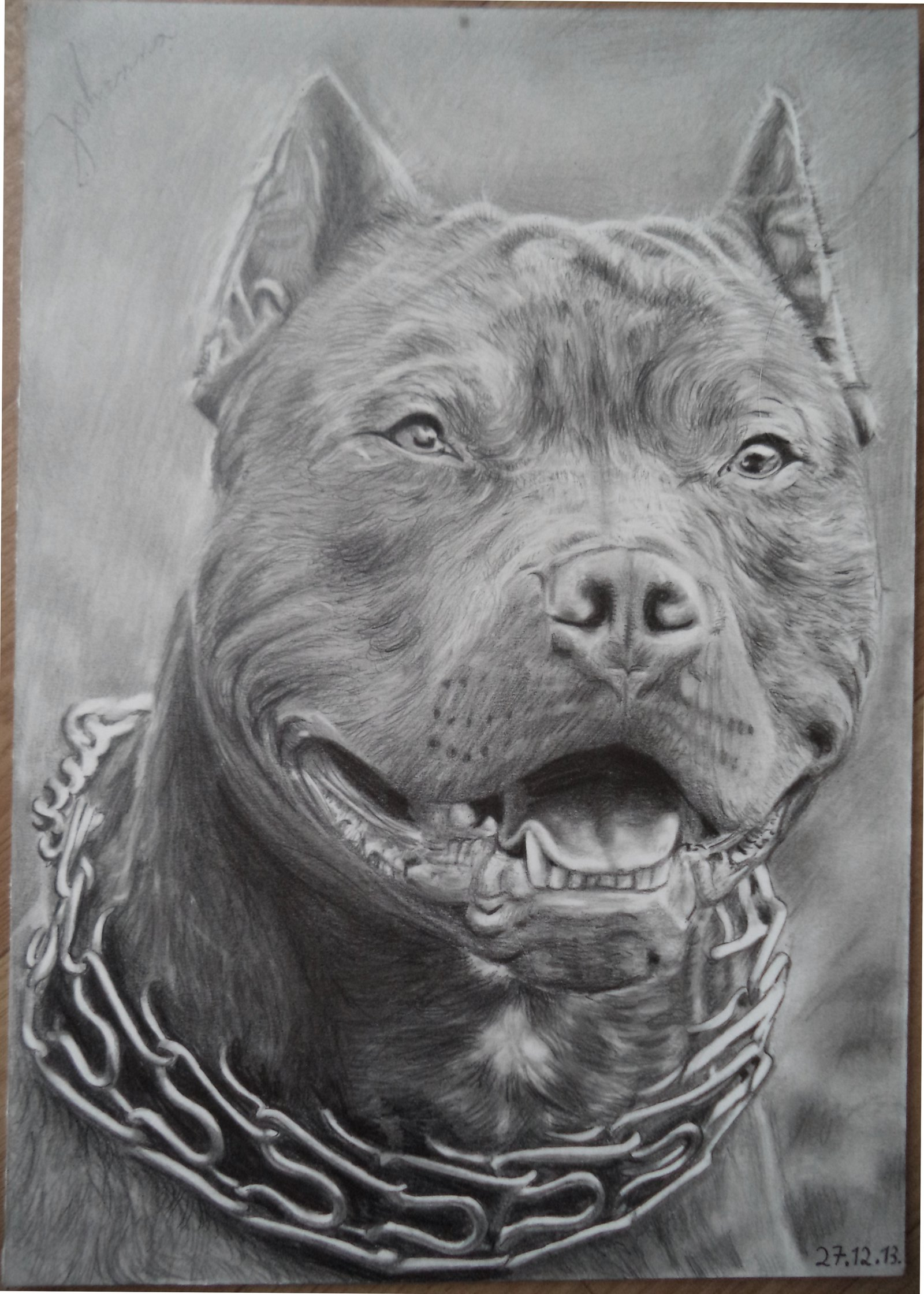 Drawn pitbull pencil drawing Pitbull a Pitbull Valyanna8361 Drawing