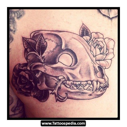 Drawn pit bull skull Tattoos 04 com/pitbull on for