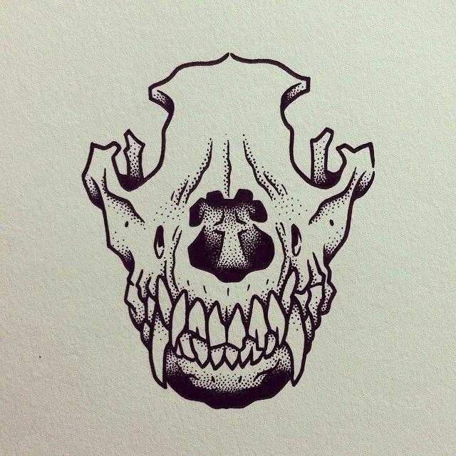 Drawn pit bull skull To death 25+ Dog love