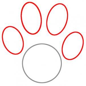Drawn puppy paw print Print paw Paw FREE by