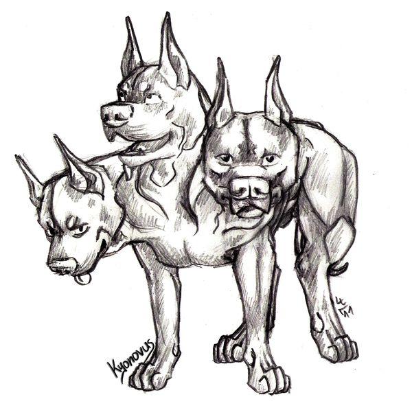 Drawn pitbull wolf Kyonovus Pit to Kyonovus to