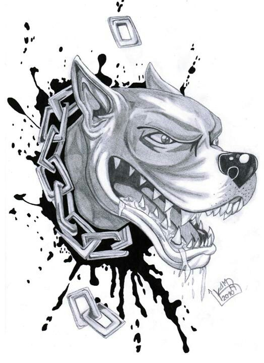 Drawn pitbull gangster Tattoos ideas Pinterest Tattoo para