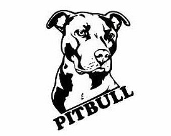 Drawn pitbull spoiled Dog Lover Pitbulls Dog decor