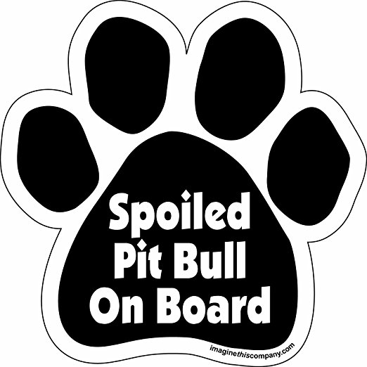 Drawn pitbull spoiled Car Car Magnet  5