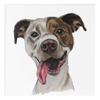 Drawn pitbull spoiled Wall Art Wall Bull Zazzle