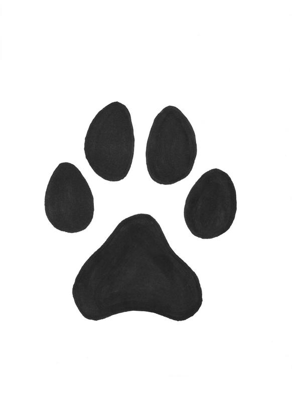 Drawn pitbull wolf Print Drawing Paw drawing paw