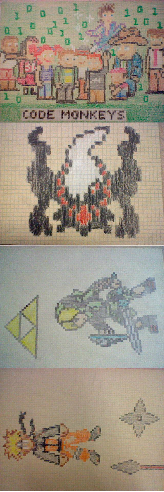 Drawn pixel art Pixel art  drawn hand