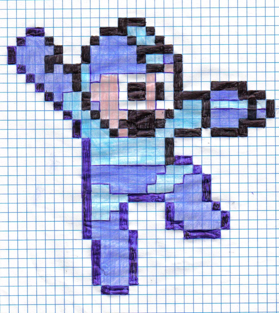 Drawn pixel art Drawn HHog Art DeviantArt Megaman